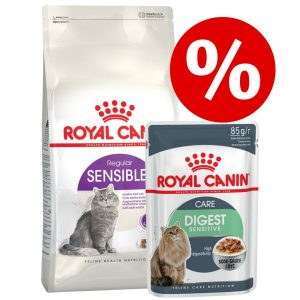 Blandpack: 4 kg Royal Canin + 24 x 85 g våtfoder - Indoor 27 + Ultra Light