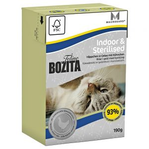 Bozita Feline Funktion 6 x 190 g - Sensitive Hair & Skin