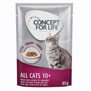 Concept for Life All Cats 10+ - i sås - 12 x 85 g
