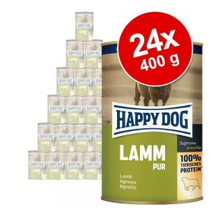 Ekonomipack: Happy Dog pure 24 x 400 g - Nötkött