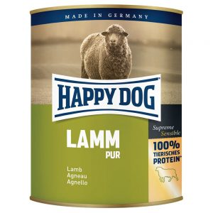 Happy Dog pure 6 x 800 g - Buffel