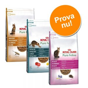 Provpack: 3 x 1,5 kg Royal Canin Pure Feline - Blandpack: 3 x 1,5 kg Royal Canine Pure