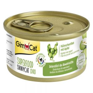 GimCat Superfood ShinyCat Duo 6 x 70 g - Tonfiskfilé & tomater