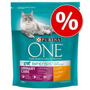 Ekonomipack: 2, 3 eller 6 påsar Purina ONE kattfoder - Adult Light (6 x 800 g)