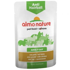 Almo Nature Anti Hairball Pouch med kyckling - 24 x 70 g