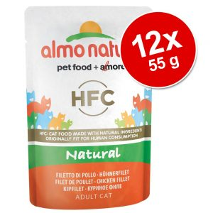 Ekonomipack: Almo Nature HFC Pouch 12 x 55 g - 3 sorters kyckling