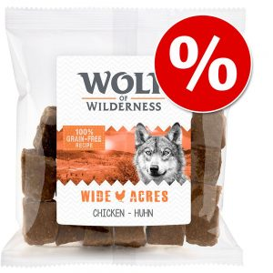 Ekonomipack: 3 x 180 g Wolf of Wilderness Snack - Wolfshappen - Wide Acres - Chicken