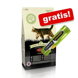 8 kg / 10 kg James Wellbeloved + 26 g Cosma snackies kyckling på köpet! - Adult Hairball - Turkey (2 x 4 kg)