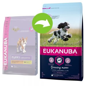 Eukanuba Growing Puppy Medium Breed Chicken - 15 kg