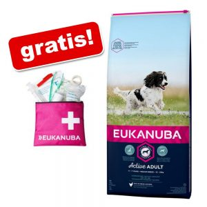 Eukanuba hundfoder + Eukanuba First Aid Kit på köpet! - Active Adult Medium Breed Chicken 15 kg