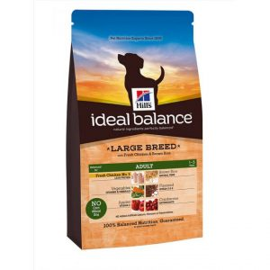 Hill's Ideal Balance Adult Large Breed Kyckling & Brunt Ris (12 kg)