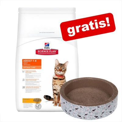 8/10 kg Hill's torrfoder för katt + klösmöbel! - Adult Light Chicken 10 kg