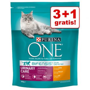 3 + 1 på köpet! 4 x 800 g Purina ONE kattmat Urinary Care