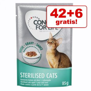 42 + 6 på köpet! Concept for Life våtfoder 48 x 85 g - All Cats 10+ i sås