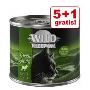 5 + 1 på köpet! Wild Freedom Adult 6 x 200 g - Golden Valley - Rabbit & Chicken