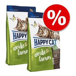 Ekonomipack: Happy Cat - Sensitive Grainfree Rabbit (2 x 4 kg)