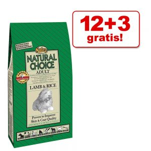 12 + 3 kg på köpet! Nutro Choice hundfoder - Adult Large Breed Kyckling & ris
