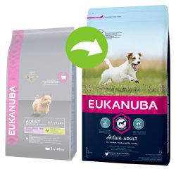 Eukanuba Active Adult Small Breed Chicken - Ekonomipack: 3 x 3 kg