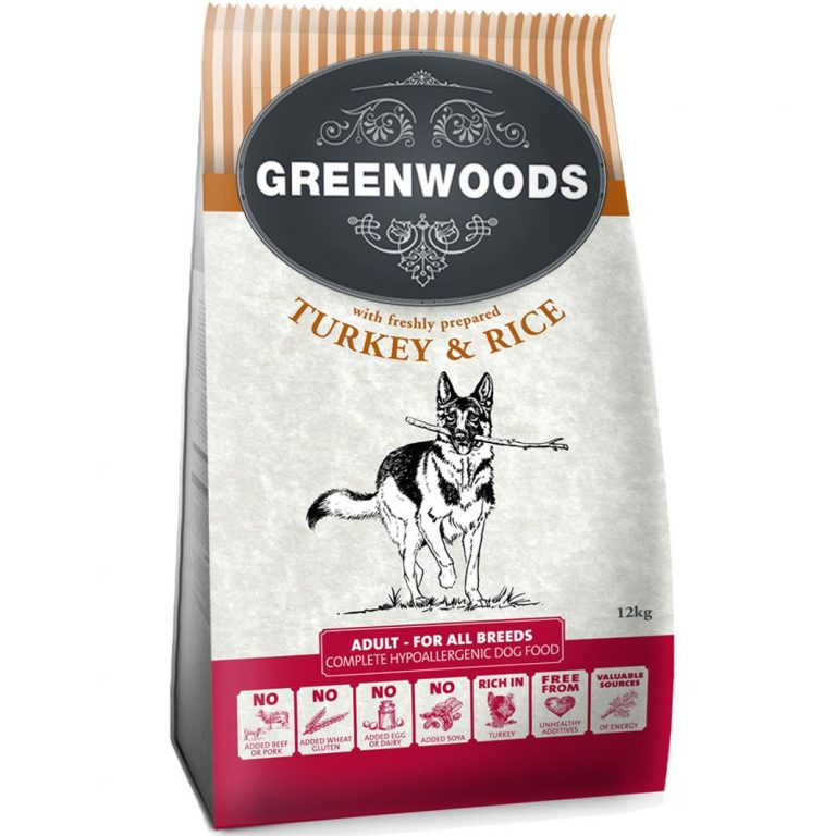 Greenwoods Adult Turkey & Rice - Prova på: 400 g