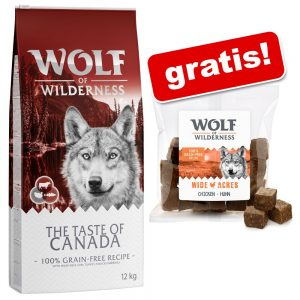 Wolf of Wilderness: 12 kg torrfoder + Snack ''''Wolfshappen'''' på köpet! - The Taste Of The Mediterranean