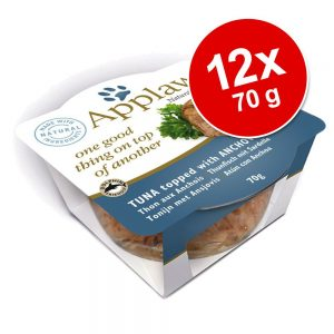 ekonomipack: Applaws Cat Layer kattmat 12 x 70 g - Tonfisk med räkor