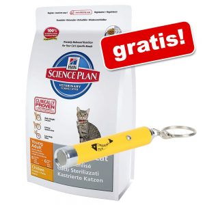 8 / 10 kg Hill's Science Plan + LED - Catch the Light på köpet! - Adult 1-6 Optimal Care Light Chicken (10 kg)
