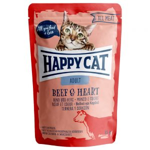 Happy Cat Pouch Mix 12 x 85 g - Meat in Sauce Mix (3 sorter)