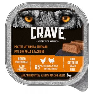 Crave Adult Dog Paté 300 g - 10 x 300 g Lamb & Beef
