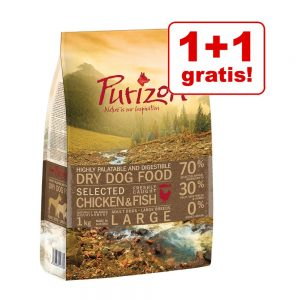 1 + 1 på köpet! 2 x 1 kg Purizon torrfoder för hund - Senior Chicken & Fish