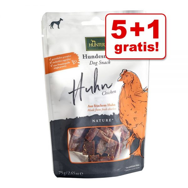 5 + 1 på köpet! 6 x HUNTER hundgodis Lifestyle Made with Love 6 x 70 g