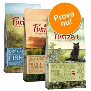 Blandat provpack Purizon Adult 3 x 2,5 kg IV: Chicken & Fish, Deer & Fish och Duck & Fish