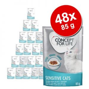 Ekonomipack: Concept for Life 48 x 85 g - Sterilised Cats i gelé