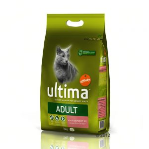 Ultima Cat Adult Salmon & Rice - Ekonomipack: 2 x 7,5 kg