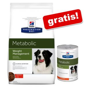 12 kg Hill's Metabolic Weight Management + 6 x 370 g våtfoder på köpet! - 12 kg + 6 x 370 g