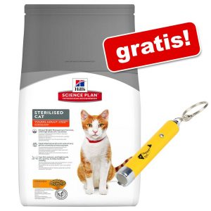 8 / 10 kg Hill's Science Plan + LED - Catch the Light på köpet! - Kitten Healthy Development Chicken (10 kg)