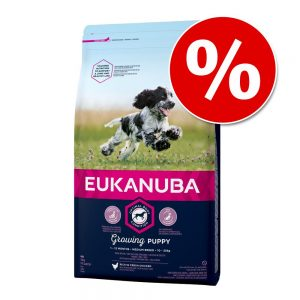 15 % rabatt på Eukanuba Puppy och Senior torrfoder! Growing Puppy Medium Breed Chicken 15 kg