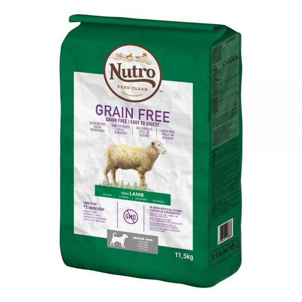Nutro Dog Grain Free Senior Lamb - 11,5 kg