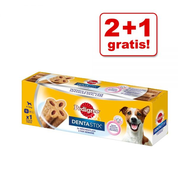 2 + 1 på köpet! Pedigree DentaStix Daily Oral / Twice Weekly - Twice Weekly Small 3 x 40 g