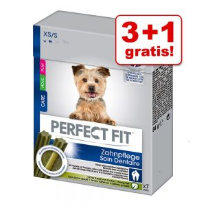 3 + 1 på köpet! Perfect Fit Dental Snack / Healthy Joint Snack - Dental Snack XS/S 4 x 84 g