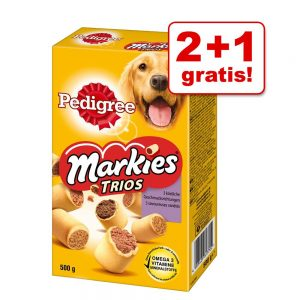 2 + 1 på köpet! 3 x Pedigree Markies, Ranchos eller Good Chew Ranchos Kyckling 3 x 70 g