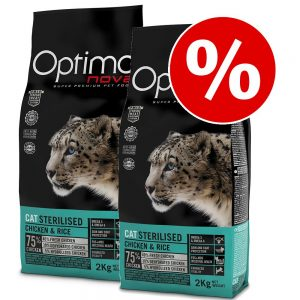 Ekonomipack: Visán Optima kattfoder - Light (2 x 8 kg)