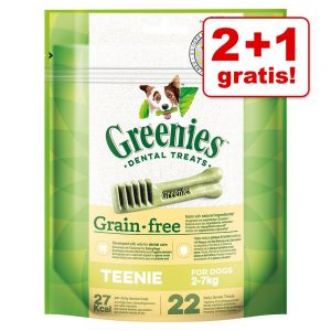 2 + 1 på köpet! 3 x 170 g Greenies tandvårdsgodis - Greenies Grainfree Medium 3 x (à 170 g / 6 st)