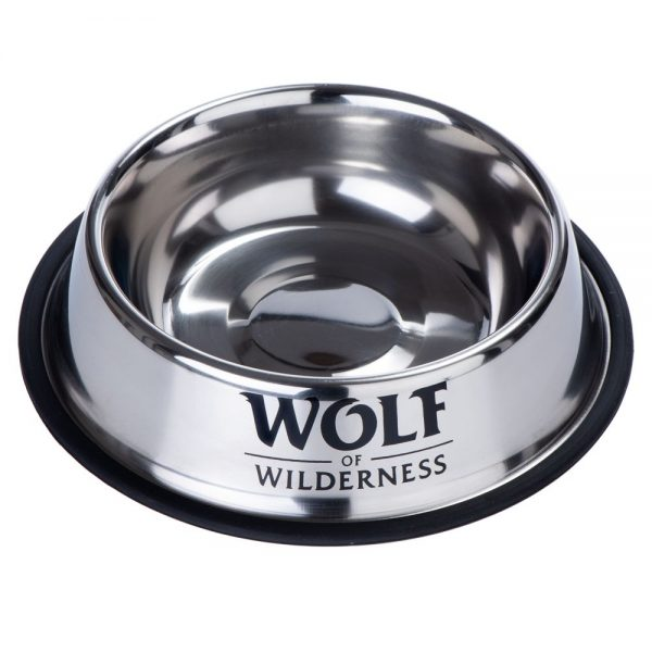 Wolf of Wilderness halksäker rostfri hundskål - 850 ml, Ø 23 cm