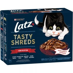 Latz ''''Tasty Shreds'''' Pouches 12 x 80 g - Fish Selection