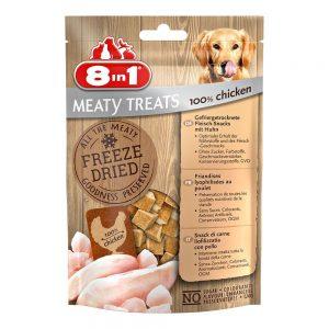 8in1 Meaty Treats - Ekonomipack: 2 x Anka & äpple (2 x 50 g)
