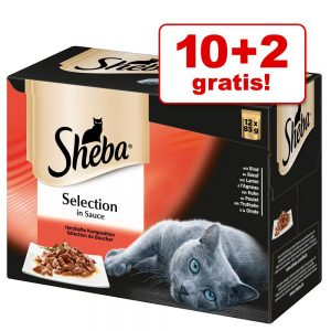 10 + 2 på köpet! 12 x 85 g Sheba Selection/Delicatesse - Selection in Sauce Fin mångfald