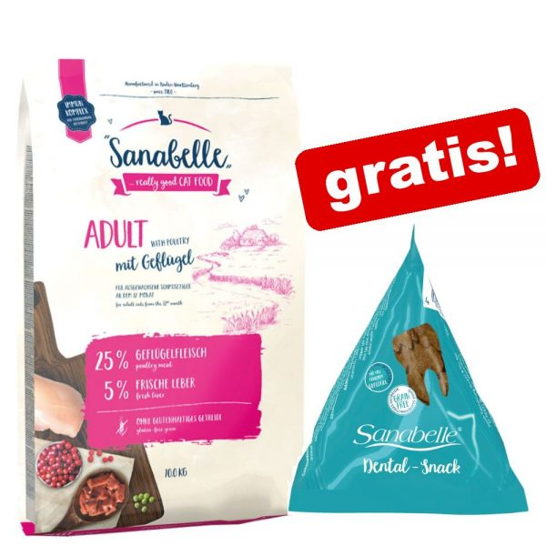 10 kg Sanabelle + 12 x 20 Dental Snack på köpet! - Adult with Ostrich