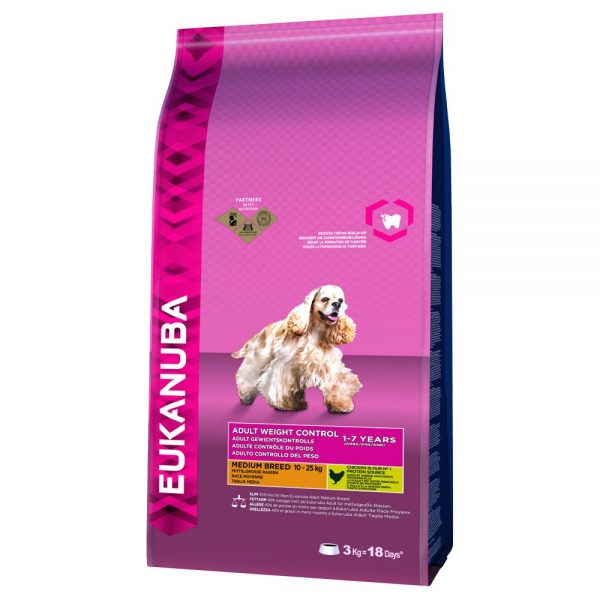 Eukanuba Adult Weight Control Medium Breed Chicken - 15 kg