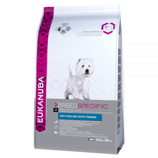 Eukanuba West Highland White Terrier Adult - Breed Specific - 2,5 kg