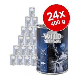 Ekonomipack: Wild Freedom Adult 24 x 400 g - Cold River - Pollock & Chicken